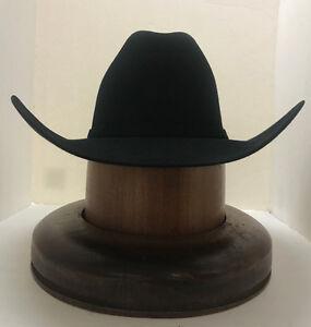 c01e43fc1 RESISTOL 6X MIDNIGHT FUR FELT HAT BLACK- NewW/tags+FREE hat brush+NO ...