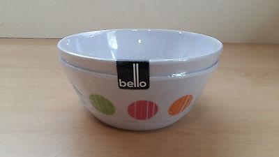 Melamine Bowls 2 Pack Spot Design 14cm Great Value