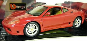 Burago - Echelle 1/18 - 3358 Ferrari 360 Modena Rosso rouge modèle réduit de voiture 8002455033581