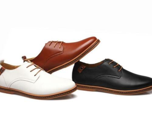 Mens Vintage Loafers Oxfords Dress Formal Lace Up Casual Faux Leather New Shoes