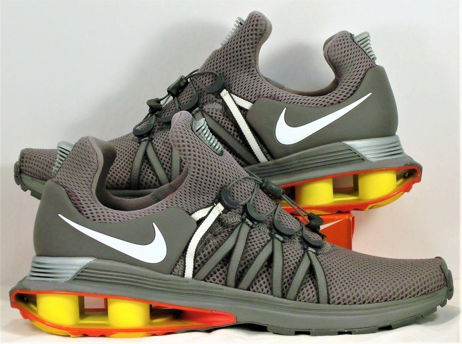 Nike Shox Gravity Gunsmoke & White Training Running Shoes Sz 12 NEW AQ8553 006 Seasonal clearance sale