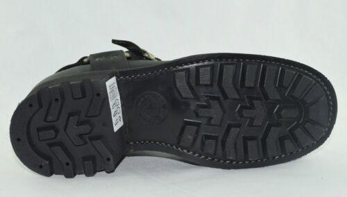 Loblan 611 Black Waxy Leather Men/'S Biker Boots Classic Round Toe Handmade Bike