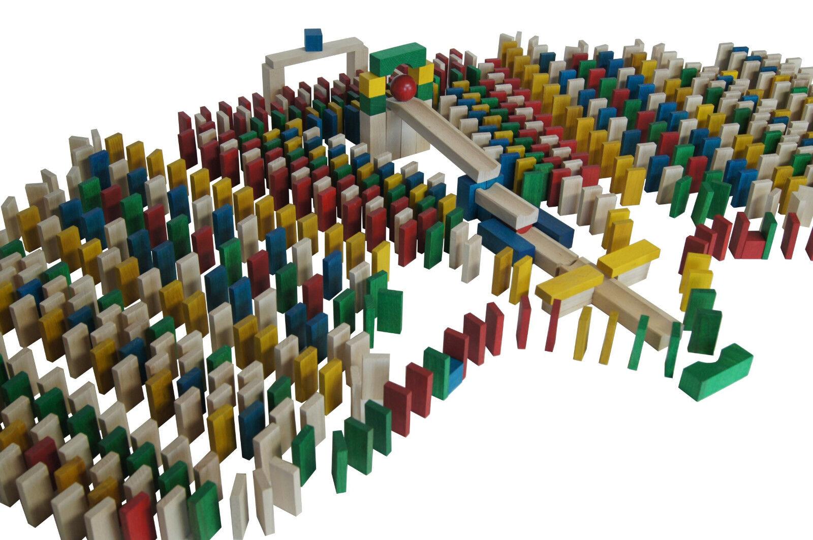 830 Dominosteine bunte Bausteine Holz Bauklötze Holzklötze Holzbausteine Domino