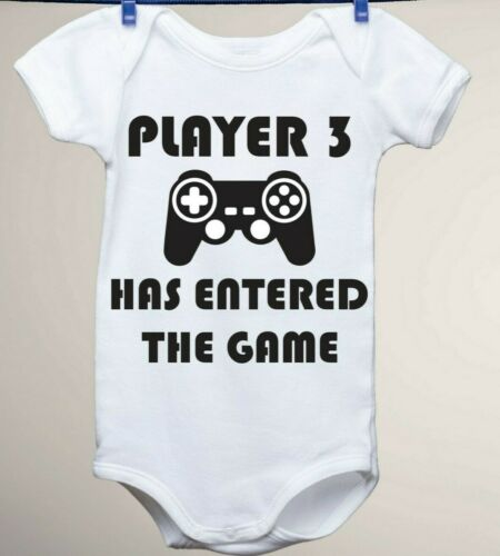 First Pregnancy Player 3 Baby Gerber Onesie New Baby Announcement
