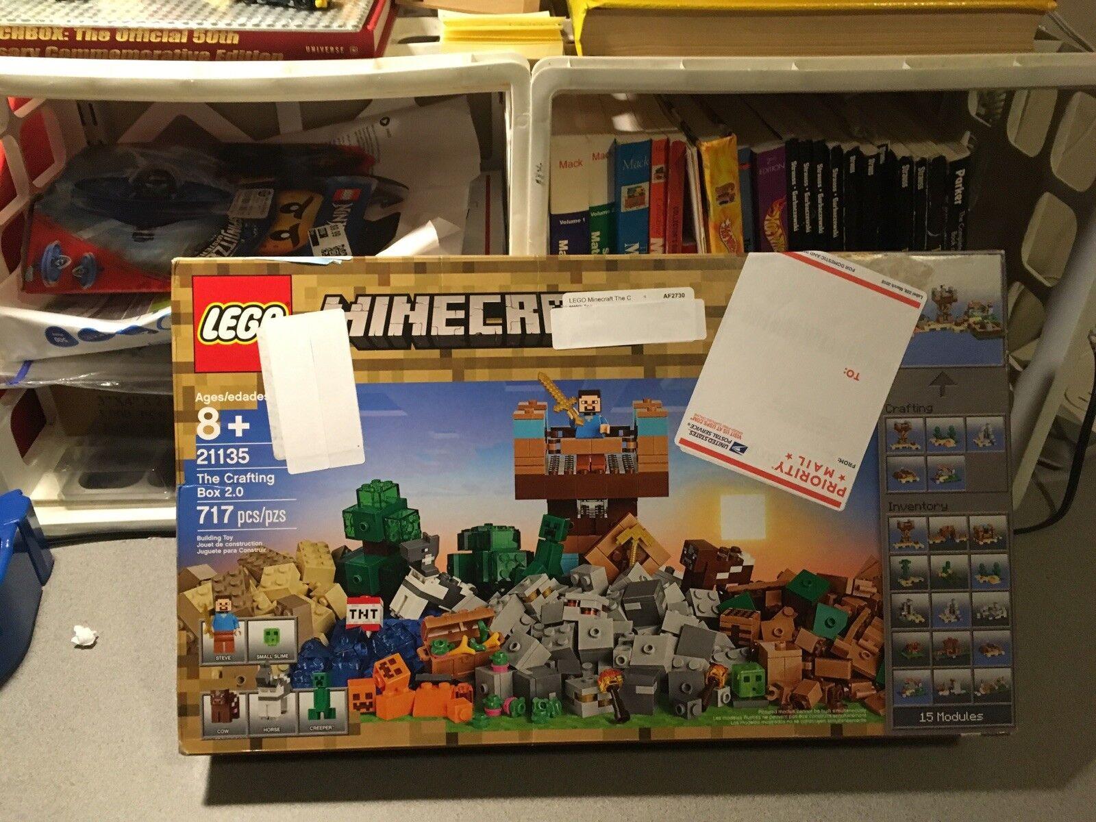Lego Minecraft La elaboración de caja 2.0 2017 (21135) Sellado De Fábrica