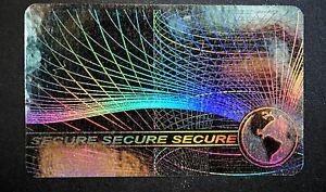 Hologram Spanish Holograma Español Inkjet Teslin Overlay ID Cards Lot of 100