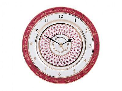RUSSIAN Imperial Lomonosov Porcelain Watch Net Blues Decorative Clock Gold