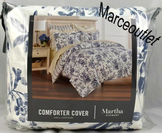 Martha Stewart Collection Full Queen Duvet Cover Deer Pond Cotton Flannel Plaid For Sale Online Ebay