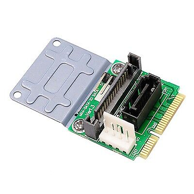 Mini MSATA to SATA Adapter Card  with Power Slot 7pin SATA Converter