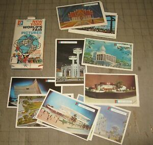 1964-1965 NY WORLD'S FAIR PICTURES Color Flash Card Set with Original Box