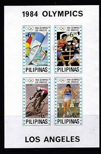 Philippines Sports 1984 Los Angeles Olympic Imperforate (BLUE STAR) S/S MNH