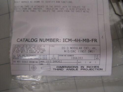 ADC ICM-4H-MB-FR DSX-3 MID BNC Module NEW