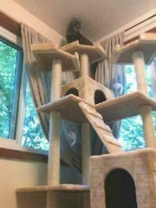 Cat Condo For Indoor Big Tower Multi Giant Castle And Large Extra Tree Tall 72 Ebay