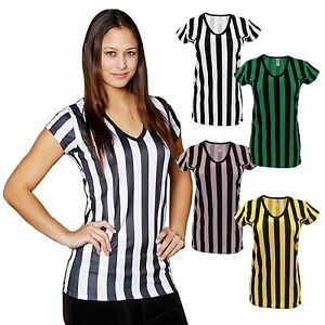 Mato amp hash womens deep v neck ref shirt bar referee wait staff top