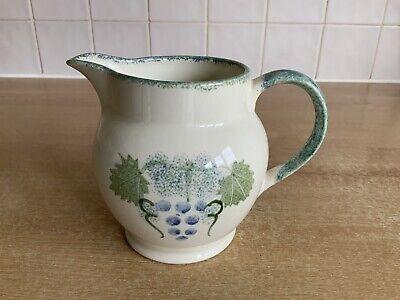 Poole Handpainted Pottery Vineyard Grapes 1 1/4 Pt Milk Pottery & Glass Custard Jug