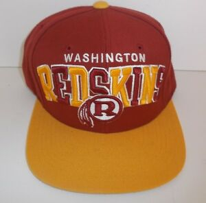 WASHINGTON-REDSKINS-BASEBALL-CAP-NFL-VINTAGE-ONE-SIZE-FITS-ALL-MITCHELL-amp-NESS