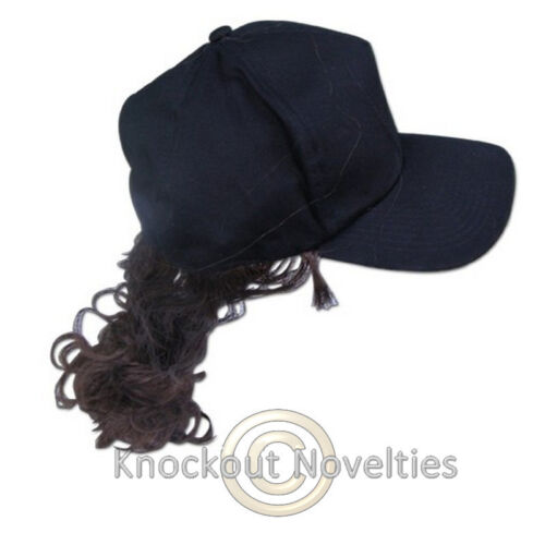 Billy Ray Ponytail Brown Hair Hat Adjustable Hair Costume Wig Cap Fun Party Wear