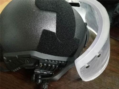 Details about  /US NIJ IIIA Ballistic Shield Face Mask Clear Visor For ACH FAST Tactical Helmet