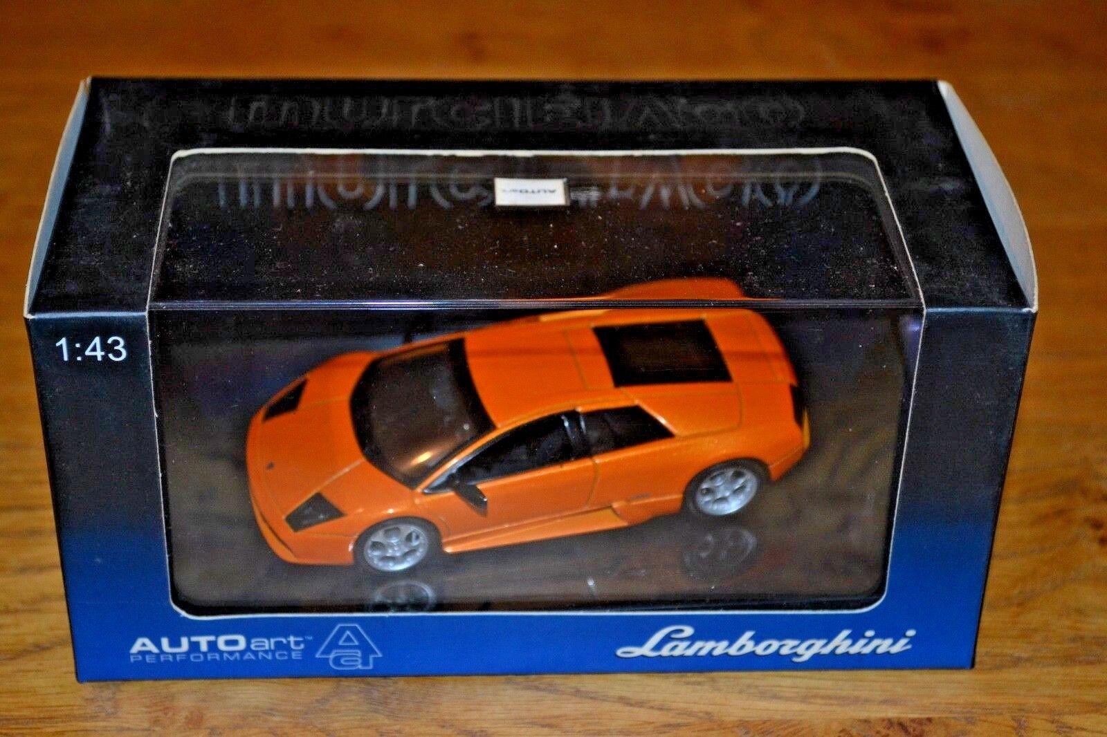 Autoart 1 43 Lamborghini Murcielago; Metallic orange;  Near Mint
