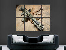M4 MACHINE GUN GIANT WALL POSTER ART PICTURE PRINT LARGE
