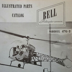 Details about Bell Helicopter 47G-2 Parts Manual on