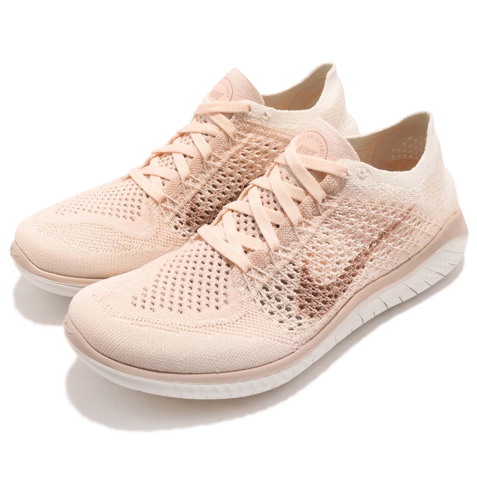 Nike Wmns Free RN Flyknit 2018 Guava Ice Beige mujer mujer mujer Running zapatos 942839-802  precios al por mayor