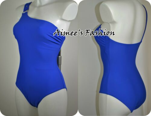 SWIMMING COSTUME 113 NEXT SHAPE ENHANCING COBALT BLUE 1 SHOULDER SWIMSUIT
