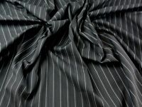 Polyester, Viscose & Lycra Pinstripe Stretch Suiting Dress Fabric (PH-563...