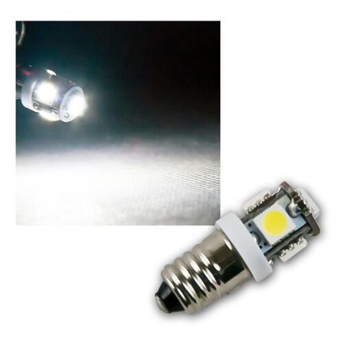 5x 5050 SMD 12V 10 x LED Leuchtmittel E10 kaltweiß Birne Lampe Glühbirne weiß