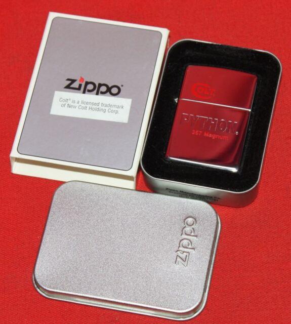 Colt Firearms Factory Python ZIPPO lighter in Tin