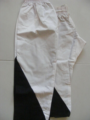 2 x Pairs of Martial Arts Trousers Size 0 & 2 in Black and White
