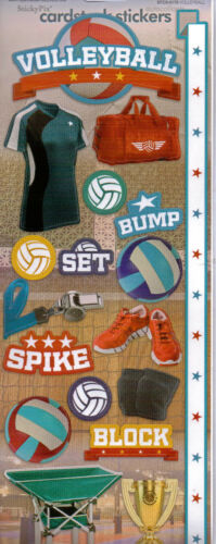 Paper House Flat SPORT themed stickers~Awesome!~Several varieties~Fast Ship!