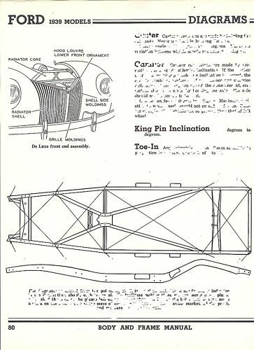 1939 Ford Nos 60 85 Hp Frame Dimensions Alignment Specs Ebay