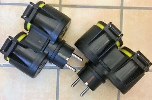 EF 2x Doppel STECKER GUMMI 7,50€//ST,Steckdosenverteiler,Steckdose,Adapter,S XX