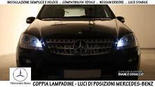 """COPPIA LAMPADINE POSIZIONI A LED BIANCO """"MERCEDES-BENZ ML (W164)"""" - NO ERRORS!"""