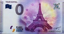 BILLET 0 ZERO EURO SOUVENIR TOURISTIQUE PARIS LA TOUR EIFFEL 2015