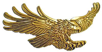 Screaming Eagle emblem, Antique gold GL1500 7 inch