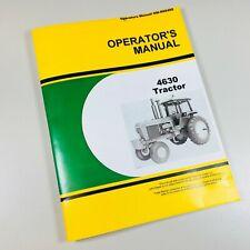 Operators Manual For John Deere 4630 Tractor Owners Maintenance Controls Book