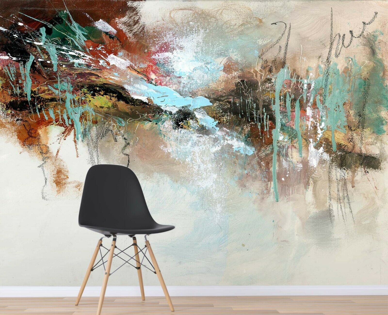 3D Farbe Aabstract I07 Wallpaper Mural Sefl-adhesive Removable Anne Doyle Zoe