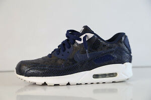 Details about Nike iD Air Max 90 Animal Snakeskin Navy Blue White 708279 991 sz 10.5 1