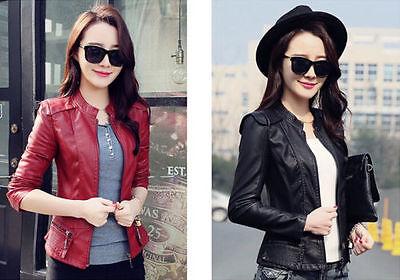 2015 Women new fashion women leather jacket leather motorcycle jacket coat Slim