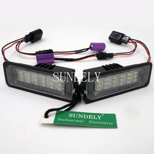 US 2x 18SMD LED License Plate Light For Porsche Boxster 2006 2007 2008 2009 2010