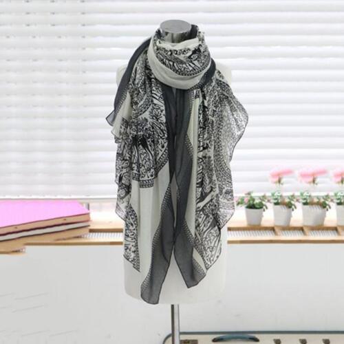 Frau warme lange weiche Baumwolle Fawn /& Flora Schal Schal Wrap Cosy SchalTücher