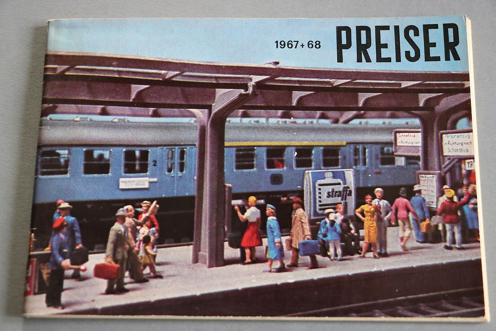 X420 PREISER Train personnage catalogueHo 1967 68 80pg Deutsch katalog +prix 67