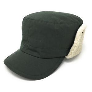 42ee6383e01 Image is loading Wax-cotton-trapper-hat-Fleece-lined