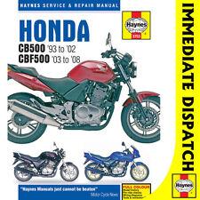 [ 3753 ] Honda Cb500 1993-2002 Cbf500 2003-08 Haynes Manual de taller