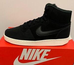 Nike ebernon Mid SE Baskets Baskets Mans Chaussures Noir Haute Femme Taille UK7.5 EU42