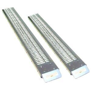 2-x-Auffahrrampe-06147-Stahl-183-cm-450-kg-Laderampe-Verladerampe-Auffahrschiene