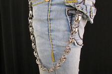 Rocker Silver Metal Long Wallet Jeans Chains Men Thick Skulls Biker Chunky Truck