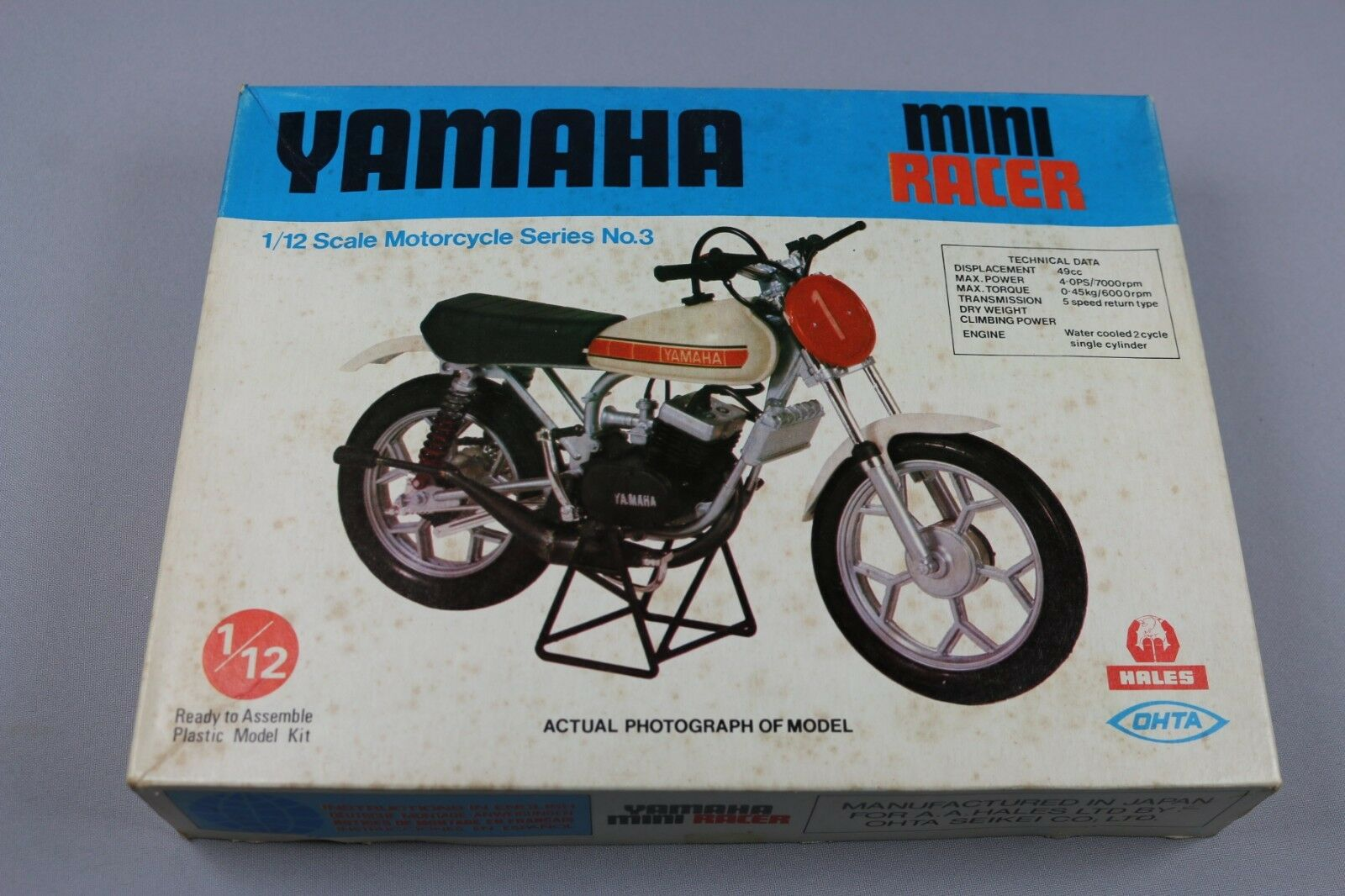 Zf1028 Hales Ohta 1 12 Maqueta Moto M12013 Yamaha Mini Racer 2 Strokes Serie 3